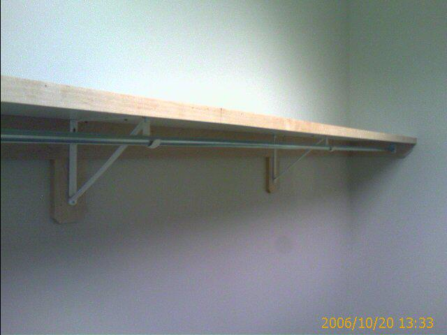 Closet Shelf Rod